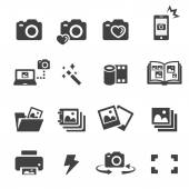 Photo icon set — Stock Vector