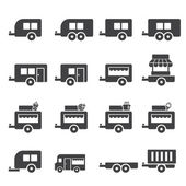 Trailer icon — Stock Vector