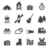 Camping icon — Stock Vector