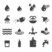 Water icon set — Stock Vector