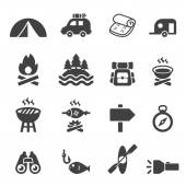 Camp icon set — Stock Vector