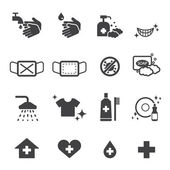 Hygiene icons set — Vector de stock