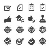 Quality control icons — Stock Vector