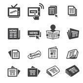 Newspeper icon set — Stock Vector