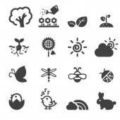 Spring icon set — Stock Vector