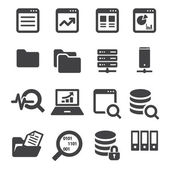 Data icon set — Stock Vector