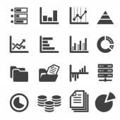 Data icon set — Stock Vector