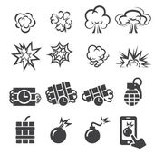 Blast icon set — Stock Vector