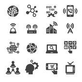Technology Icon set — Stock Vector