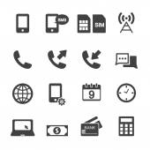 Mobile account management icons — Stock Vector
