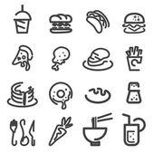 Food line icon — Stock Vector