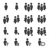 People icon set — Stock Vector