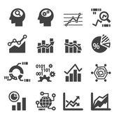 Analytics icon set — Stock Vector