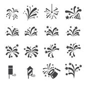 Firework icon set — Stock Vector