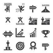 Success icon set — Stock Vector
