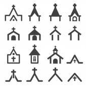 教会の建物のアイコン — ストックベクタ