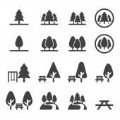 Park icon set — Stock Vector
