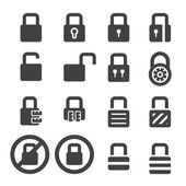 Lock icon set — Stock Vector
