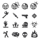 Zombie icons — Stock Vector