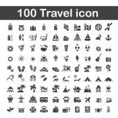 100 travel icon — Stock Vector
