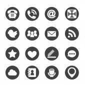 Web communication icons  internet vector set — Stock Vector