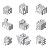 Isometric hospital building icon — Stock Vector