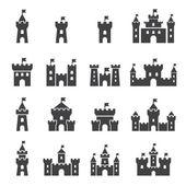 Castle icon set — Stock Vector