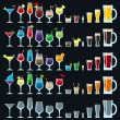 Set of colorful alcohol drinks — Stock Vector #57777679