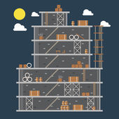Flat design of construction site  — 图库矢量图片
