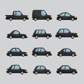 Set of cartoon cars design — Stock Vector