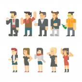 Flat design of party people set — Stock Vector
