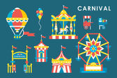 Flat style carnival infographic elements — Stock Vector