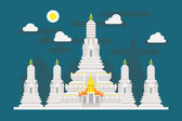 Wat Arun Thailand temple — Stock Vector