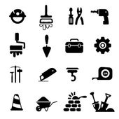 Construction Icons — Stock Vector