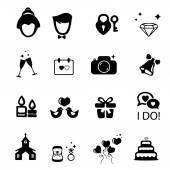 свадебные иконка — Cтоковый вектор