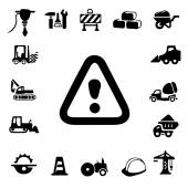 Construction Silhouette Icons — Stock Vector