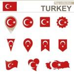 Turkey Flag Collection — Stock Vector #60511985