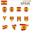 Spain Flag Collection — Stock Vector #60512099