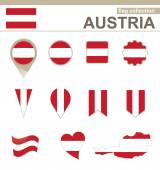 Austria Flag Collection — Stock Vector