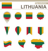 Lithuania Flag Collection — Stock Vector
