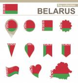 Belarus Flag Collection — Stock Vector