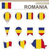 Romania Flag Collection — Stock Vector