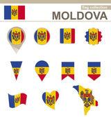 Moldova Flag Collection — Stock Vector