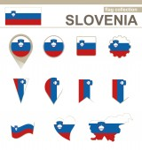 Slovenia Flag Collection — Stock Vector
