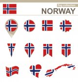 Norway Flag Collection — Stock Vector