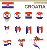 Croatia Flag Collection — Stock Vector