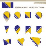 Bosnia and Herzegovina Flag Collection — Stock Vector