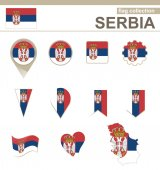 Serbia Flag Collection — Stock Vector