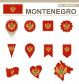 Montenegro Flag Collection — Stock Vector