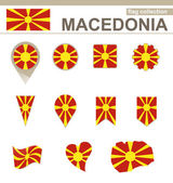 Macedonia Flag Collection — Stock Vector